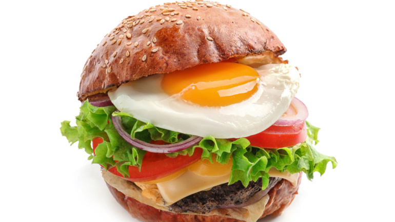 Egg burger veggie