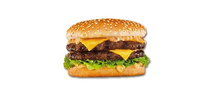 Double burger végan