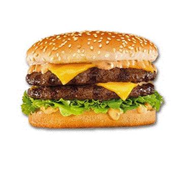 Double burger veggie