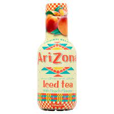 Arizona Iced tea with peach flavour
