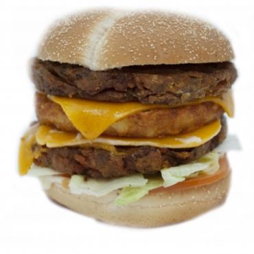 Crousty Double burger beyond meat